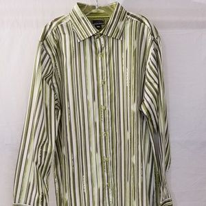 Oakley XXL SlimFit LS Yellow Green Brown Shirt